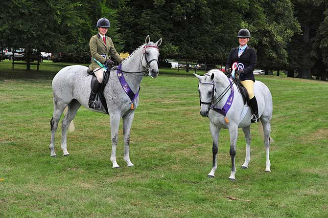 Burghley HOYS Qualifiers L-to-R Whatcanyasay - Robyn Gray and Double Brandy - Louise Marden Crest <br>Photo: SMR Photos.jpg