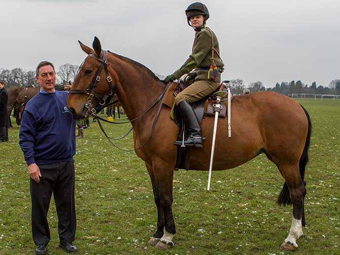 Photo: field officer Nick White & Penny in King's TroopPhoto: World Horse Welfare