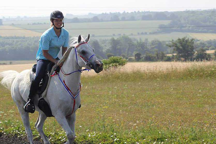 The endurance horse needs the sustainability of muscle power - Lauren Mills is pictured